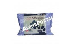 CLX wipes fertőtlenítő törlőkendő 40 db/csomag  VIDACL1  Klórhexidin-diglükonát 0,45%,Lanolin,Glicerin,Polivinil-pirrolidon  Célállat fajok: kutya, macska  Javallatok: Bőrfelületi pyoderma: bőrredő-gennyesedés (intertrigo) és interdigitalis pyoderma kezelésére. Felületes pyoderma és Malassezia dermatitis kezelésére (kis kiterjedésű bőrelváltozások esetén). A Clorexyderm Spot Gel különösen hatékony Malassezia otitis esetén (csak ép dobhártya esetén használható)  Tulajdonságok:A klórhexidin-diglükonát baktericid hatású, Malassezia ellen is igen hatékony (fungicid), nem inaktiválják a szerves anyagok (pl. genny), alacsony koncentrációban nem irritál.A polivinil-pirrolidon biztosítja a termék gél halmazállapotát, ami hosszan tartó hatást és a bőrhöz való jobb tapadást biztosít, ezáltal fokozza az antibakteriális hatást.A lanolin és a glicerin hidratáló hatású vivőanyagok  Használata: Malassezia otitis esetén a Clorexyderm Oto-val végzett fültisztítás után naponta 1-2-szer alkalmazzuk 10-14 napon keresztül, majd hetente kétszer egy hónapon keresztül.Felületes pyoderma és Malassezia bőrgyulladás (kis kiterjedésű) esetén és különösen a bőrredők területén és az interdigitalis területeken: tisztítsuk meg és fertőtlenítsük a területet Clorexyderm Oldat-tal, majd szárítsuk meg, ezután alkalmazzuk a Clorexyderm Spot Gel-t naponta kétszer 10 napon keresztül, majd naponta egyszer fenntartó kezelésként  Kiszerelés: 100 ml-es flakonban