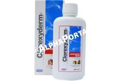 Clorexyderm Forte sampon 200 ml  VITA04  Összetétele:Klórhexidin-diglükonát, glicerin  Célállat fajok: kutya és macska  Javallat: Pyoderma és Malassezia pachydermatis okozta bőrgyulladások kezelésére.TULAJDONSÁGAI:2% klórhexidint tartalmaz, amely hatékony a baktériumok és Malassezia ellen csökkentett hatásidő mellett (5-7 perc), így kiválóan alkalmazható nyugtalan állatok kezelésekor.Glicerintartalma révén hidratáló hatású.A sampon eltávolítja a mikroorganizmusokat és az elpusztult hámsejteket, így megfosztja a baktériumokat és gombákat a tápanyagforrásuktól. Ezáltal megszünteti a gombás fertőzésekkel járó kellemetlen szagokat  Adagolás, használat: Az állatok szőrtakaróját jól be kell nedvesíteni langyos vízzel, majd a samponnal megmosni, és az érintett területeken (általában a mancsokon, a száj körül, a hason, nyakon, hónaljakon, lágyékon) óvatosan bedörzsölni. Elegendő mennyiségű sampont használjunk, hogy sűrű hab képződjön. A sampont hagyjuk hatni 5-7 percen át, majd öblítsük le b ő vízzel, hogy a hámképleteket és a faggyút teljesen eltávolítsuk. A kezelést kétnaponta ismételjük meg 2-4 héten keresztül. Ez alatt az idő alatt az állatot 12-24 óránként érdemes Clorexyderm Oldattal kezelni.Az ilyen típusú b őrirritációnál gyakran jelentkezik visszaesés, ezért megelőzésként használjuk a Clorexyderm Forte Sampont 2 hetente  Kiszerelés: 200 ml